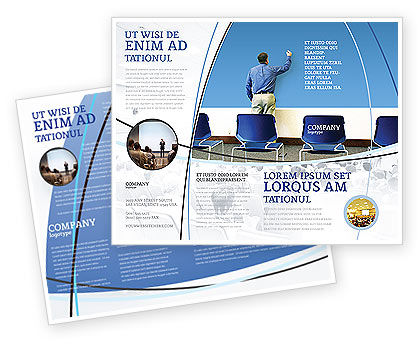 Public Presentation Brochure Template, 03421, Education & Training — PoweredTemplate.com