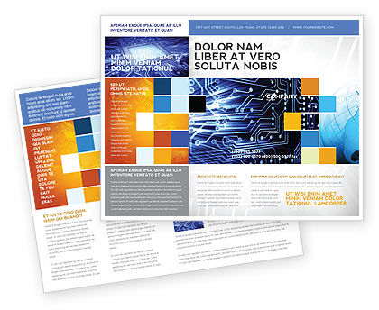 Technology, Science & Computers: Circuit Board Brochure Template #03422