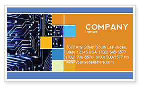 Circuit Board Business Card Template, 03422, Technology, Science & Computers — PoweredTemplate.com