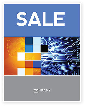 Circuit Board Sale Poster Template, 03422, Technology, Science & Computers — PoweredTemplate.com