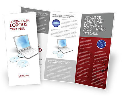 Technology, Science & Computers: Computer Laptop Brochure Template #03424