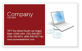 Technology, Science & Computers: Computer Laptop Business Card Template #03424