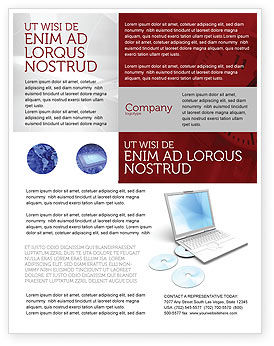 Technology, Science & Computers: Computer Laptop Flyer Template #03424