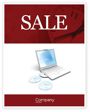 Computer Laptop Sale Poster Template, 03424, Technology, Science & Computers — PoweredTemplate.com