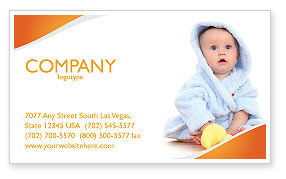 Little Baby Business Card Template, 03426, People — PoweredTemplate.com