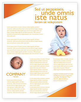 People: Little Baby Flyer Template #03426