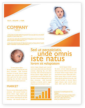 Little Baby Newsletter Template, 03426, People — PoweredTemplate.com