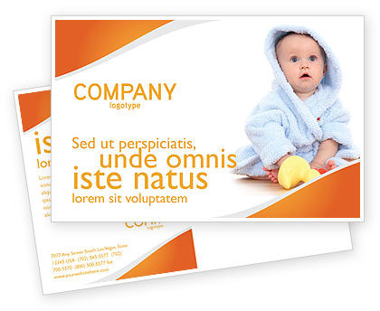 Little Baby Postcard Template, 03426, People — PoweredTemplate.com
