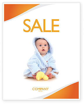 People: Little Baby Sale Poster Template #03426