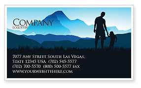 Starting Point Business Card Template, 03429, Religious/Spiritual — PoweredTemplate.com