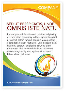 Sports: Olympic Fire Ad Template #03430