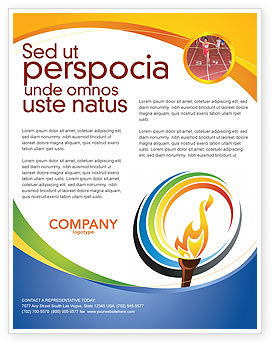 Olympic Fire Flyer Template, 03430, Sports U2014 PoweredTemplate.com