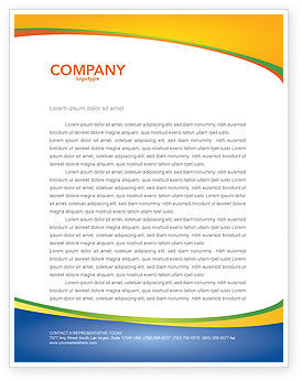 Olympic Fire Letterhead Template, 03430, Sports — PoweredTemplate.com