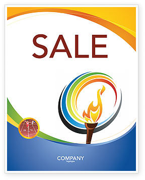 Sports: Olympic Fire Sale Poster Template #03430