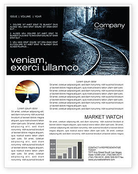 Railway Newsletter Template, 03431, Construction — PoweredTemplate.com