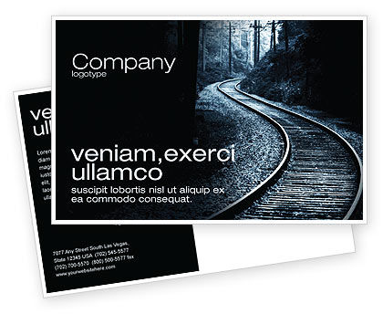 Construction: Railway Postcard Template #03431