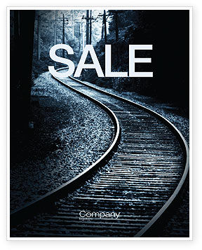 Railway Sale Poster Template, 03431, Construction — PoweredTemplate.com