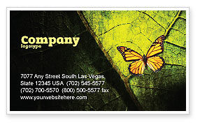 Agriculture and Animals: Butterfly Effect Business Card Template #03432