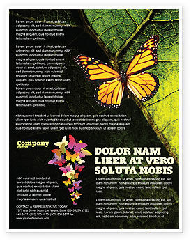 Butterfly Effect Flyer Template, 03432, Agriculture and Animals — PoweredTemplate.com