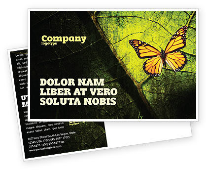 Agriculture and Animals: Butterfly Effect Postcard Template #03432