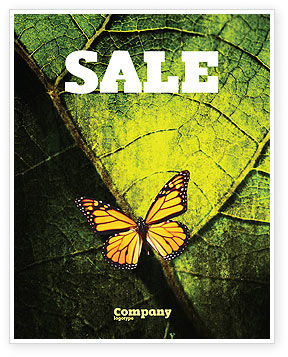 Agriculture and Animals: Butterfly Effect Sale Poster Template #03432