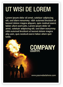 Careers/Industry: Fire Brigade Ad Template #03434
