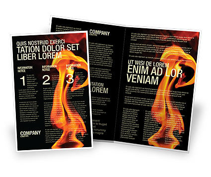 Fire Brigade Brochure Template, 03434, Careers/Industry — PoweredTemplate.com