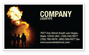 Careers/Industry: Fire Brigade Business Card Template #03434