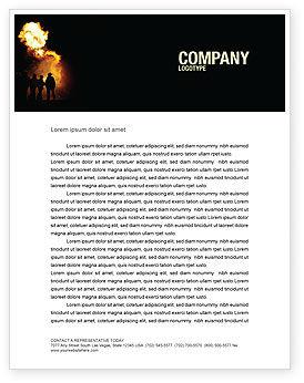 Careers/Industry: Fire Brigade Letterhead Template #03434