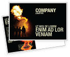 Careers/Industry: Fire Brigade Postcard Template #03434
