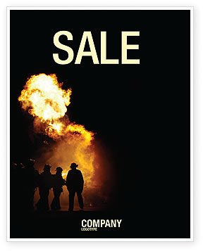 Fire Brigade Sale Poster Template, 03434, Careers/Industry — PoweredTemplate.com