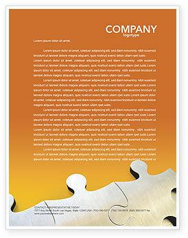 Business Concepts: Puzzle Parts Letterhead Template #03435