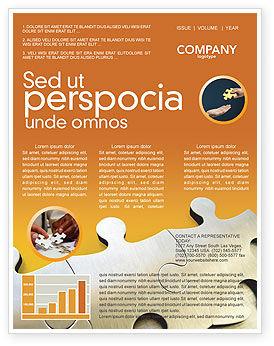 Business Concepts: Modello Newsletter - Parti puzzle #03435