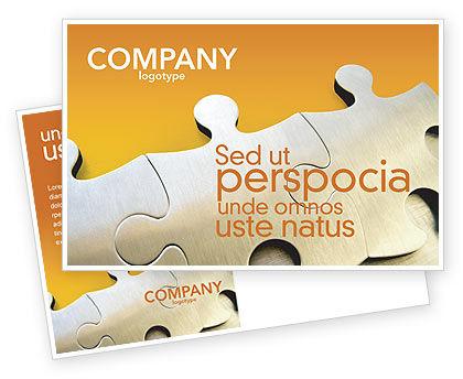 Business Concepts: Puzzle Parts Postcard Template #03435