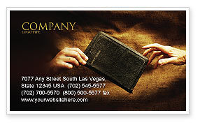 Christianity Business Card Template, 03436, Religious/Spiritual — PoweredTemplate.com