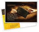 Religious/Spiritual: Christianity Postcard Template #03436
