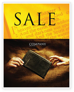 Christianity Sale Poster Template, 03436, Religious/Spiritual — PoweredTemplate.com