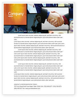 Business: Effective Customer Relationship Management Letterhead Template #03437
