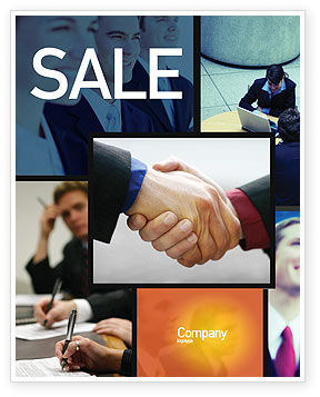 Business: Effective Customer Relationship Management Sale Poster Template #03437