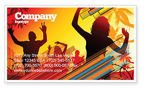 Holiday/Special Occasion: Party People Business Card Template #03438