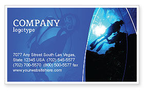 Sports: Diving Business Card Template #03439