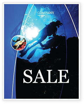 Diving Sale Poster Template, 03439, Sports — PoweredTemplate.com