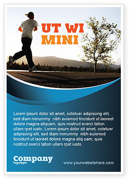 Sports: Morning Jogging Advertentie Template #03440