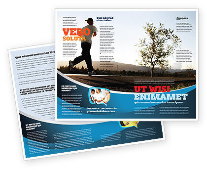 Morning Jogging Brochure Template, 03440, Sports — PoweredTemplate.com