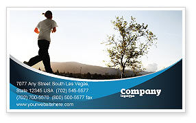 Sports: Morning Jogging Business Card Template #03440