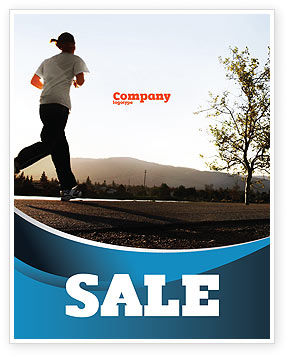 Sports: Morning Jogging Sale Poster Template #03440