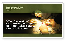 Medical: Surgery In Progress Business Card Template #03443