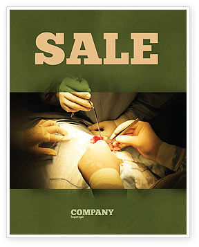 Medical: Surgery In Progress Sale Poster Template #03443