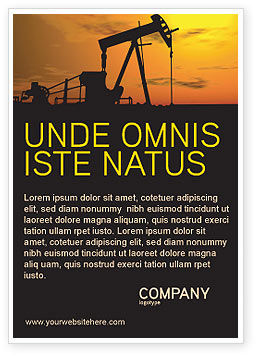 Oil Producer Ad Template, 03444, Utilities/Industrial — PoweredTemplate.com