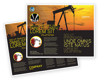 Oil Producer Brochure Template, 03444, Utilities/Industrial — PoweredTemplate.com